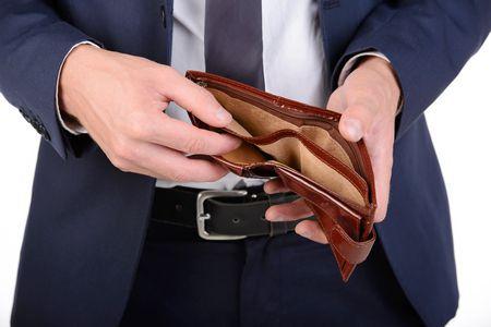 صورة رجل أعمال , المشاكل المادية