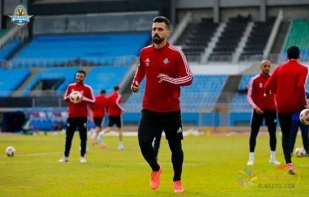 عبدالله السعيد في تدريبات نادي بيراميدز