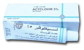 صورة , عبوة , دواء , كريم , أسيكلوڨير 5% , Acyclovir