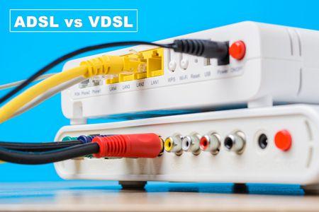 خدمات الإنترنت , صورة راوتر , ADSL vs VDSL