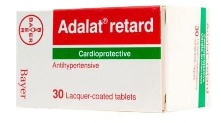صورة, عبوة, ادلات, دواء, علاج, Adalat Retard