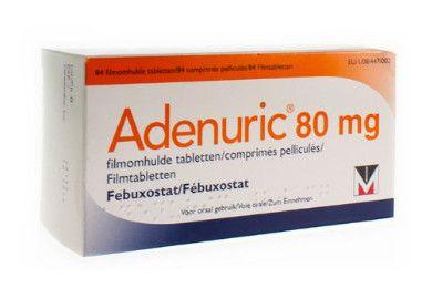 صورة , عبوة , دواء , لعلاج النقرص , أدينوريك , Adenuric