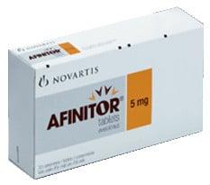 صورة,دواء,السرطان, عبوة, أفينيتور, Afinitor