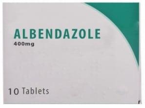 صورة, عبوة, البندازول, Albendazole