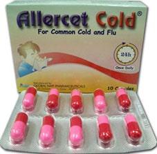صورة , عبوة , دواء , كبسولات , أليرست كولد , Allercet Cold