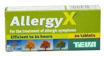 صورة,عبوة, أليرجي X, Allergy X
