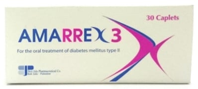 صورة,عبوة, أقراص, أماركس 3, Amarrex 3