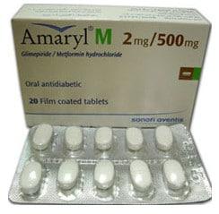 صورة , عبوة , دواء , أقراص مغلفة , أماريل إم , Amaryl M