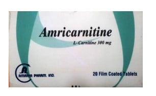 صورة , عبوة , دواء , أقراص , علاج نقص الكارنيتين , أمريكارنيتين , Amricarnitine