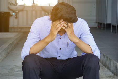 صورة , رجل , الحزن , التوتر , القلق