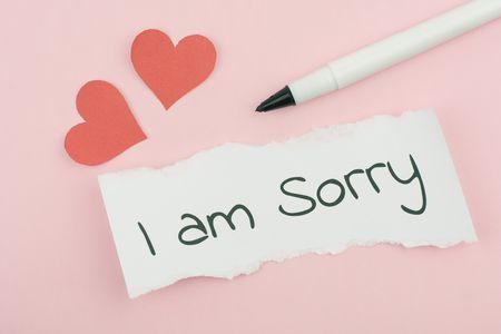صورة , الإعتذار , الندم , الأسف
