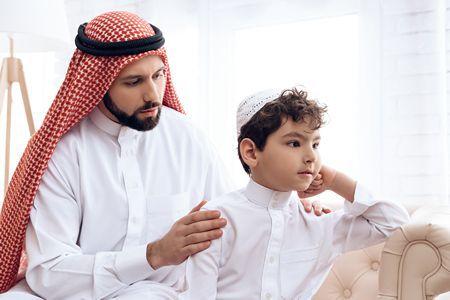 صورة , طفل , أب , ثقافة الاعتذار