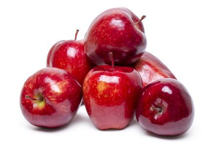 صورة , التفاح , اصفرار الأسنان