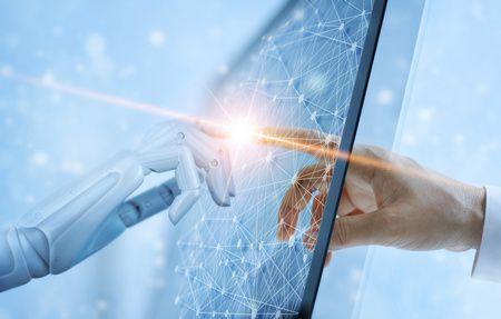 صورة , إنسان , روبوت , الذكاء الاصطناعي
