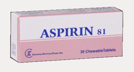 صورة, دواء, علاج, عبوة, أسبرين ٨١ , Aspirin 81