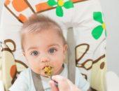 صورة , طفل , إطعام الطفل , غذاء