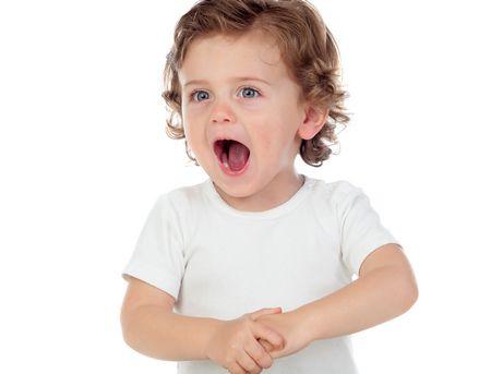 صورة , طفل , النطق , الكلام , تأخر النطق
