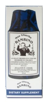 صورة , عبوة , دواء , شراب , علاج المغص عند الأطفال , بامبينو , Bambino