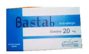 صورة , عبوة , دواء , أقراص مغلفة , لعلاج الأرتيكاريا , بستاب , Bastab