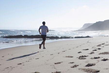 رياضة , الجري , شاب , صورة