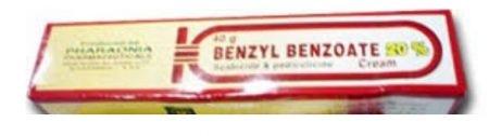 صورة , عبوة , دواء , كريم , لعلاج القمل والجرب , بنزيل بنزوات , Benzyl Benzoate