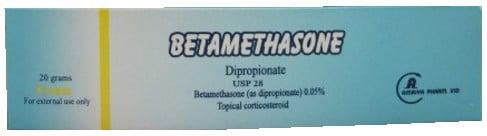 صورة, عبوة, بيتاميثازون, Betamethasone