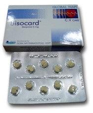 صورة , عبوة , دواء , أقراص , بيزوكارد , Bisocard