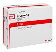 صورة , عبوة , دواء , أقراص , لعلاج إرتفاع ضغط الدم , بلوبرس , Blopress