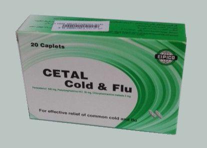 صورة, علاج, عبوة, دواء, سيتال كولد أند فلو , Cetal Cold and Flu