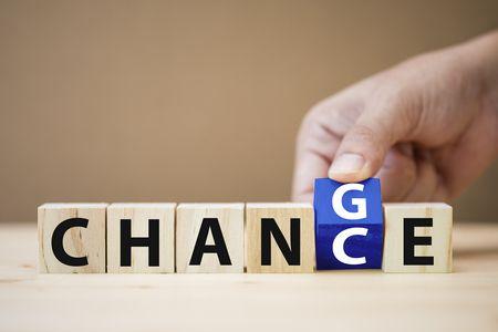 صورة , يد , فرصة , التغيير