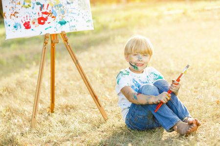 صورة , طفل , الرسم , مهارات الطفل