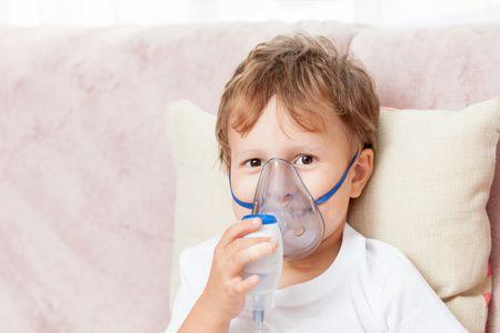 صورة , طفل مريض , تنفس , اللحمية