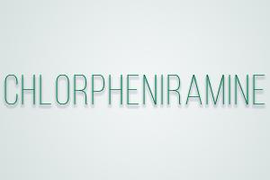 صورة,تصميم, كلورفنيرامين, Chlorpheniramine