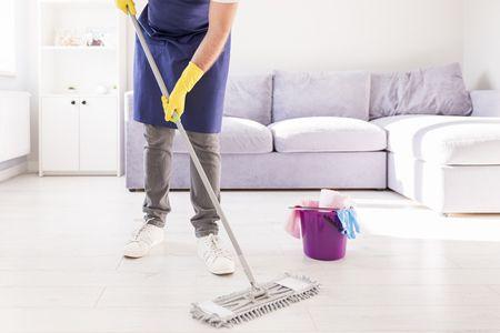صورة , رجل , النظافة , منزل نظيف