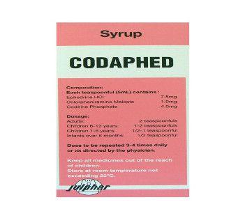 صورة , دواء , شراب , لعلاج السعال , كودافيد , Codaphed
