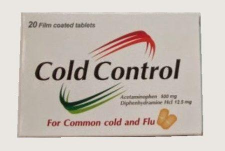 صورة, علاج, عبوة, دواء, كولد كونترول , Cold Control
