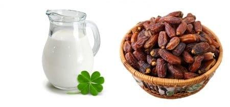 رجيم التمر واللبن ,حمية , التمر, الحليب, صورة