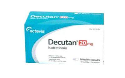 صورة , عبوة , دواء , لعلاج حب الشباب , دكيوتان , Decutan