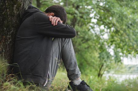 صورة , رجل , الاكتئاب , الاضطراب ثنائي القطب