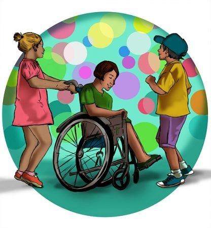 صورة , أطفال , طفل معاق , ذوي الإعاقة