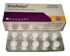 صورة, دواء, علاج, عبوة ,ديسفلاتيل, Disflatyl
