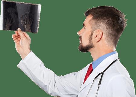صورة , طبيب , أشعة , مسمار العظم , باطن القدم