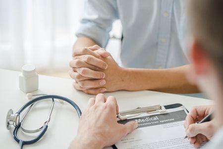 صورة , طبيب , رجل , مريض , العقم , استشارة طبية