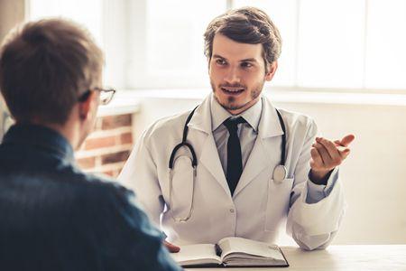 صورة , طبيب , مريض , التوهم المرضي