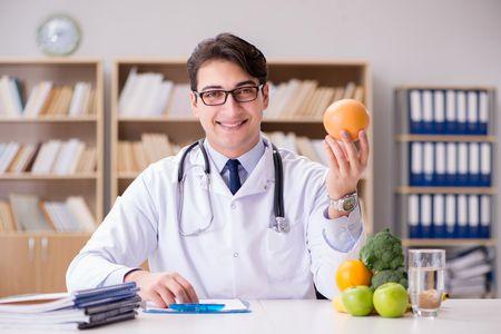 صورة , طبيب , طعام , الكوليسترول