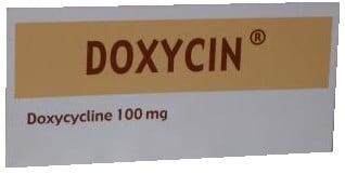 صورة, عبوة, دوكسيسين, كبسول, Doxycin