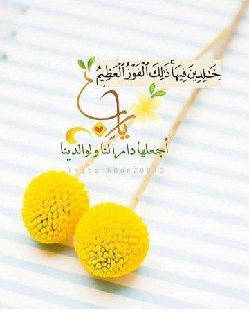 اللهم اجعل الجنة دارًا لنا ولوالدينا