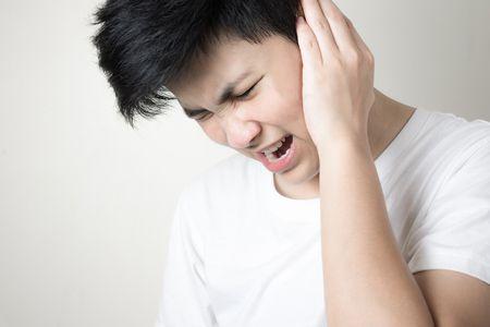 صورة , رجل , السمع , طنين الأذن