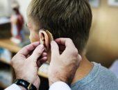 صورة , رجل , طبيب , ضعف السمع , القوقعة