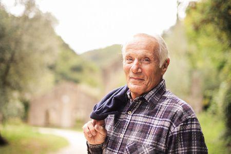 صورة , رجل , تقدم السن , تنشيط الكولاجين